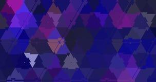 Os rosa e os azuis dos triângulos do Fractal modelam o expolosion do fundo Fotos de Stock Royalty Free