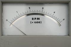 Os RPM velhos opor mostrar zero fotografia de stock
