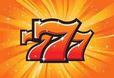 Os símbolos afortunados dos sevens Fotografia de Stock Royalty Free