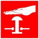 Os símbolos do interruptor do dilúvio assinam o isolado no fundo branco, ilustração EPS do vetor 10 ilustração royalty free