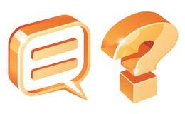 Os símbolos necessários para comunicam-se ilustração royalty free