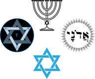 Os símbolos religiosos e mágicos judaicos Imagens de Stock Royalty Free