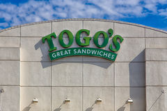 Os sanduíches de Togo exteriores Imagem de Stock Royalty Free