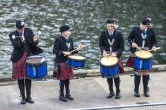 Os Scottish musicien drummer5 Fotografia de Stock Royalty Free