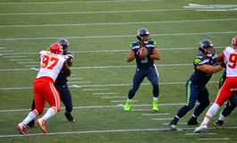 Os Seattle Seahawks CONTRA Kansas City Chiefs Imagens de Stock Royalty Free