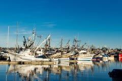 Os seiners de bolsa amarraram no terminal do ` s do pescador em Seattle Washington imagem de stock