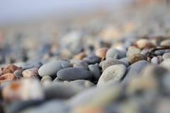 Os seixos na praia de Chipre Foto de Stock Royalty Free