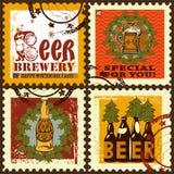 Os selos postais de ano novo ajustados Imagem de Stock