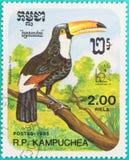 Os selos postais tinham sido imprimidos em R P kampuchea Imagens de Stock Royalty Free