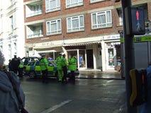 Os serviços chegam no swanage Dorset do acidente Imagens de Stock Royalty Free