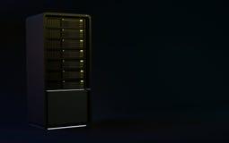 os servidores 3d rendem o preto ilustração do vetor