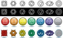 Os sete chakras da ioga ilustração stock