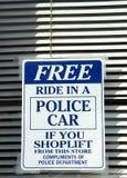 Os Shoplifters Beware Imagens de Stock Royalty Free