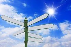 Os sinais. Imagem de Stock