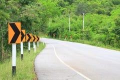 Os sinais de estrada advertem motoristas Imagens de Stock