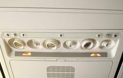 Sinais de segurança do avião Fotografia de Stock Royalty Free