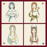 os sinais do zodíaco Ilustração do Vetor