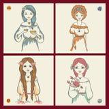 os sinais do zodíaco Ilustração Royalty Free
