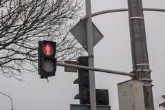Os sinais mostram vermelho foto de stock