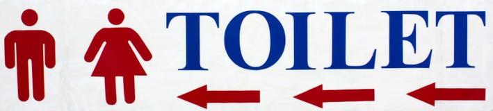 Os sinais vão ao toalete. Imagens de Stock Royalty Free