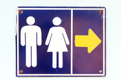 Os sinais vão ao toalete. Foto de Stock Royalty Free