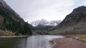 Os sinos marrons icônicos em Aspen Colorado Foto de Stock