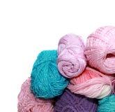 Os Skeins para fazem crochê Fotografia de Stock