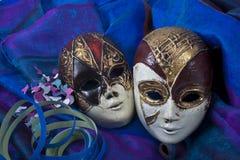 Os símbolos do carnaval Imagens de Stock Royalty Free