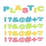 Os símbolos estilizaram o plástico colorido Fotos de Stock