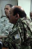 Os soldados americanos treinam o exército afegão Foto de Stock