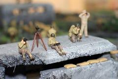 Os soldados modelo imagens de stock royalty free
