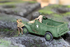 Os soldados modelo imagem de stock