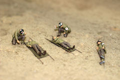 Os soldados modelo fotografia de stock royalty free