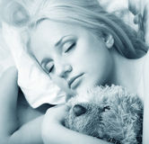 Os sonos da menina Foto de Stock Royalty Free