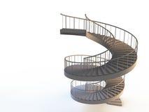 Os strairs espirais isolaram-se Imagens de Stock Royalty Free