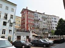 Os strees históricos de Coimbra imagem de stock royalty free