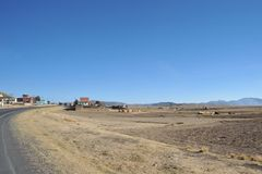 Os subúrbios da cidade de La Paz Imagens de Stock Royalty Free