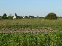 Os subúrbios da vila ucraniana fotografia de stock