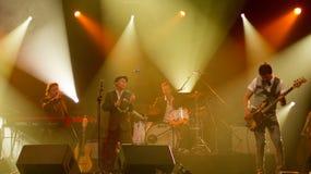 Os sueco jazz-estalam a faixa BO Kaspers Orkester vivo Imagem de Stock