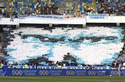 Os suportes da equipe de Kyiv do dínamo de FC mostram sua sustentação foto de stock royalty free