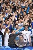 Os suportes da equipe de Kyiv do dínamo de FC mostram sua sustentação fotos de stock