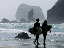 Os surfistas Imagem de Stock Royalty Free