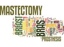 Os sutiãs da mastectomia podem dar-lhe para trás seu conceito da nuvem da palavra do fundo do texto da confiança e da forma Foto de Stock