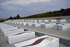 Os túmulos da família de Jashari, Prekaz, Kosovo Fotografia de Stock