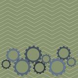 Os tamanhos diferentes da roda da roda denteada da cor alinham o contrato, bloquear, Tesselating Ideia criativa do fundo para ind ilustração do vetor
