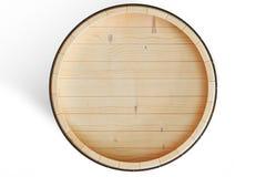 os tambores de madeira da ilustração 3D veem a parte superior, vinho isolado no fundo branco Bebida alcoólica em tambores de made Fotos de Stock
