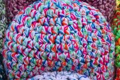 Os tampões coloridos de lãs Fotos de Stock Royalty Free