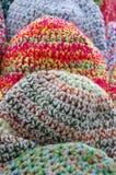 Os tampões coloridos de lãs Foto de Stock Royalty Free