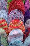 Os tampões coloridos de lãs Imagem de Stock