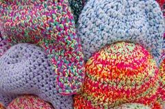 Os tampões coloridos de lãs Imagem de Stock Royalty Free
